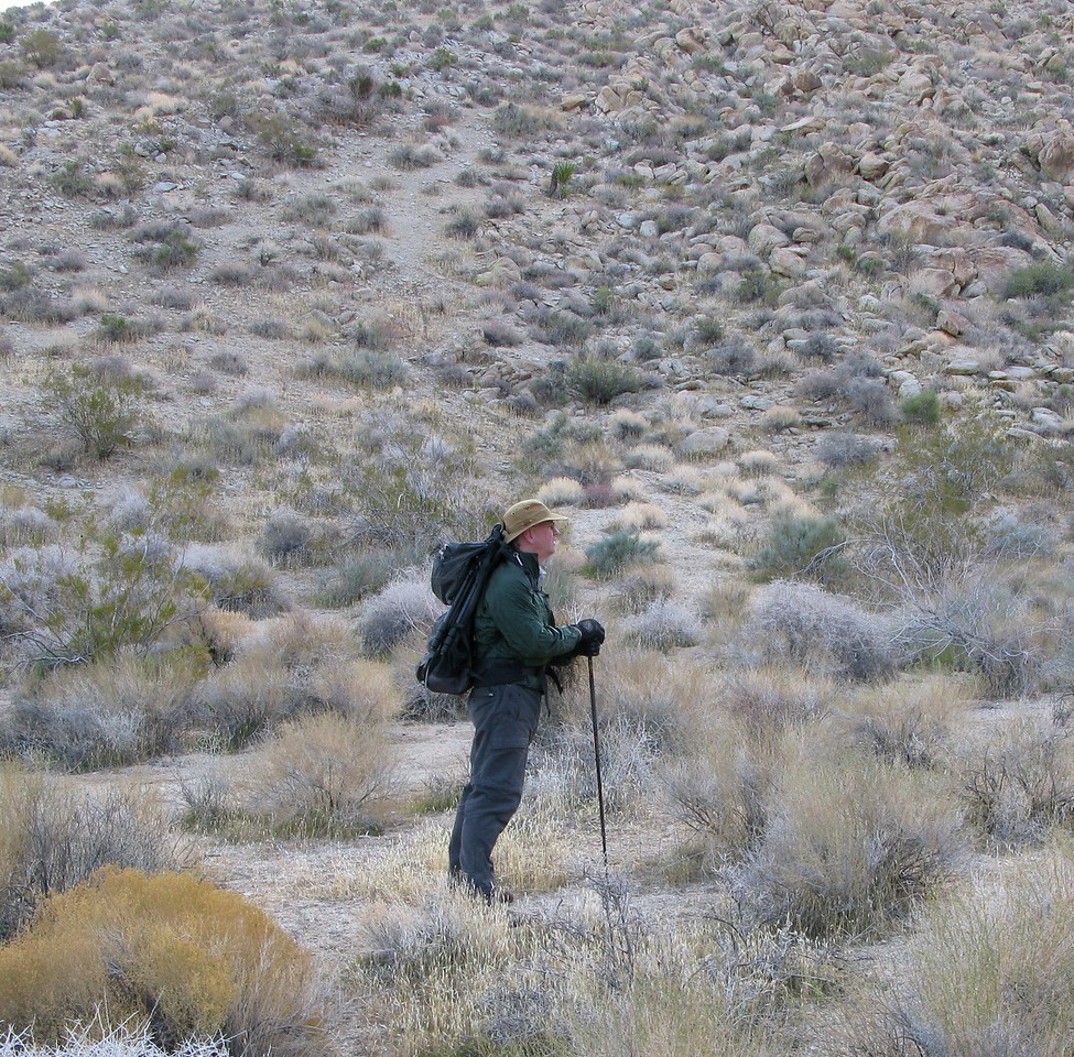 Once I parked the ATV, the initial terrain that I hiked was relatively easy.<br /> <br /> A few short breaks in the cool morning air made the hike up the mountain a pleasant experience.