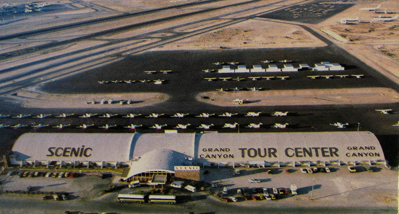 With rapid expansion and growth in the air tour industry, Scenic Airlines needed more room and a more central location in Las Vegas. <br /> <br /> In 1973, Scenic Airlines moved it's operation from North Las Vegas Airport to a new facility at the much larger McCarran International Airport.