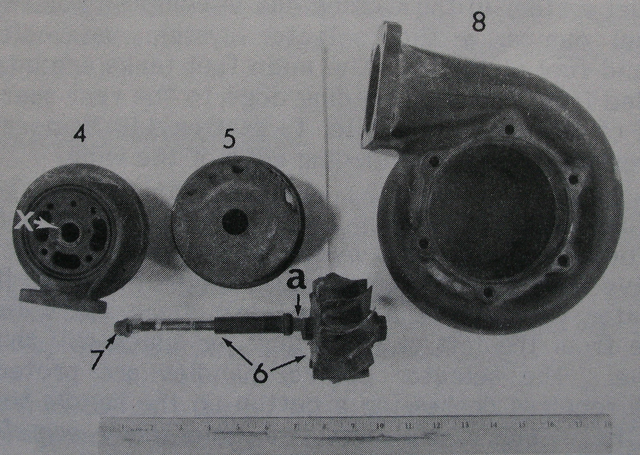 Further investigation revealed that the failing turbocharger was literally tearing itself apart internally and externally and eventually failed due to rotational imbalance. <br /> <br /> The left engine sustained a substantial loss of power because the turbocharger ceased operating. (NTSB File Photo)