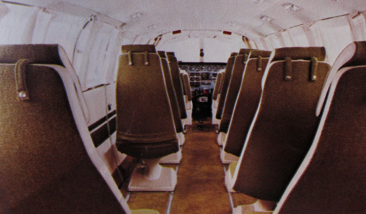 The Scenic Airlines Cessna 404 Titans provided nine passenger seats. The large cabin and single seating of the aircraft allowed each passenger to have a window seat.