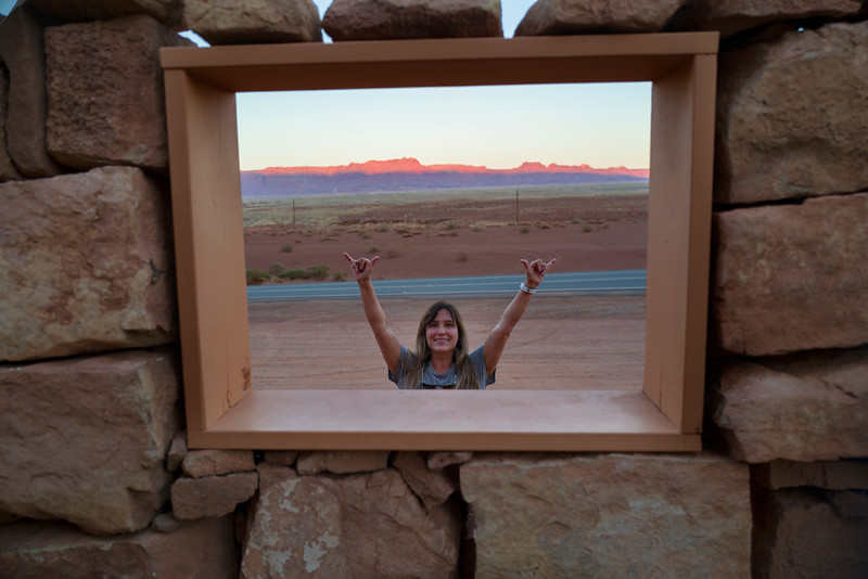 And I am also very happy on the other side of the window, Cliff Dwellers Stone House, AZ.