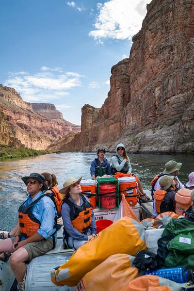 Tea Room crew on the back of the Raft.