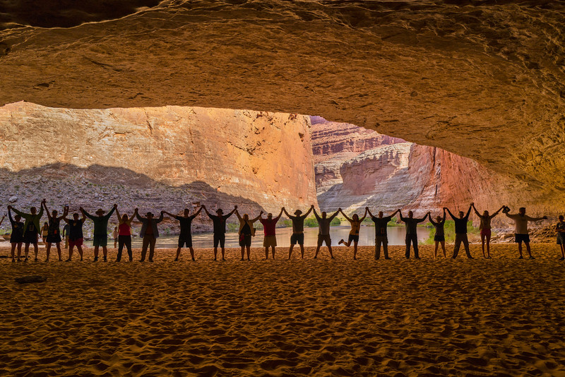 RedWall Cavern, John Wesley Powell the great explorer of the Colorado river said you can fit 50.000 people here. Luckily we were only 30!!