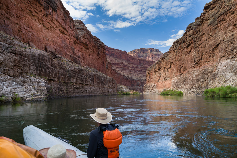 Day 2 on the Colorado River. Austin watches the road....