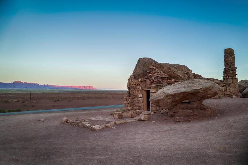 The Stone House, Marble Canyon, Cliff Dwellers, Arizona.