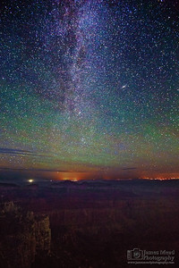 """Imperial Dreams,"" the Milky Way over the Grand Canyon, Grand Canyon National Park, Arizona"