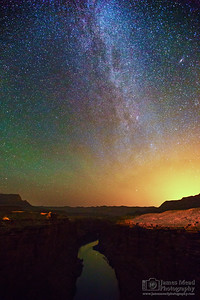 """Canyon Glow,"" The Milky Way over Marble Canyon and the Colorado River, Grand Canyon National Park, Arizona"