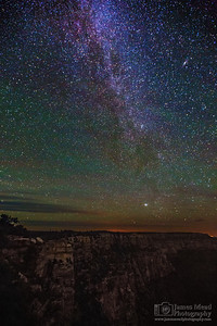 """Night over the Rim,"" Grand Canyon National Park, Arizona"