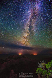 """Night Throne,"" the Milky Way over Cape Royal and Wotan's Throne,"" Grand Canyon National Park, Arizona"