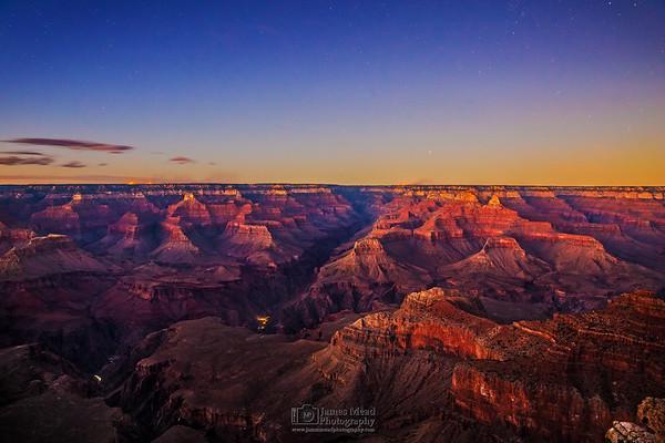 """Zoroaster's Transition,"" Nautical Sunset over the Grand Canyon, Grand Canyon National Park, Arizona"