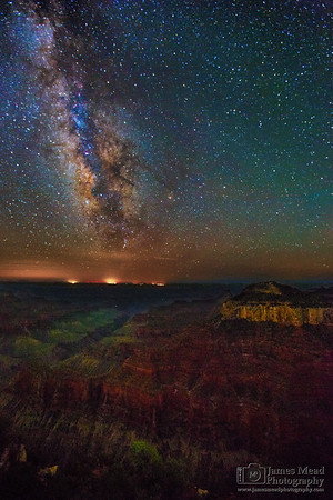 """""""Transept,"""" The Milky Way over Oza Butte and the North Rim, Grand Canyon National Park, Arizona"""