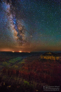 """Transept,"" The Milky Way over Oza Butte and the North Rim, Grand Canyon National Park, Arizona"
