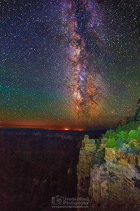 """Night Light,"" the Milky Way over the North Rim, Grand Canyon National Park, Arizona"