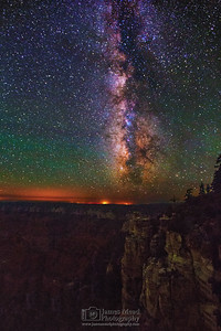 """Castle Walls,"" the Milky Way over the North Rim, Grand Canyon National Park, Arizona"