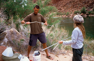 My brother Colin setting up a bug trap to collect data. At each beach the various scientific disciplines set up various forms of data collection which takes at least a few hours after arrival.