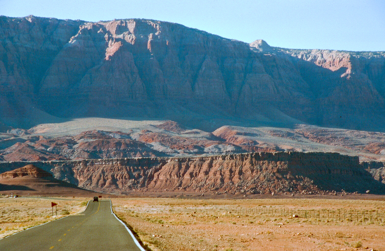 Nearing Lee's Ferry where the Grand Canyon begins. The Vermillion Cliffs emerging in the background.