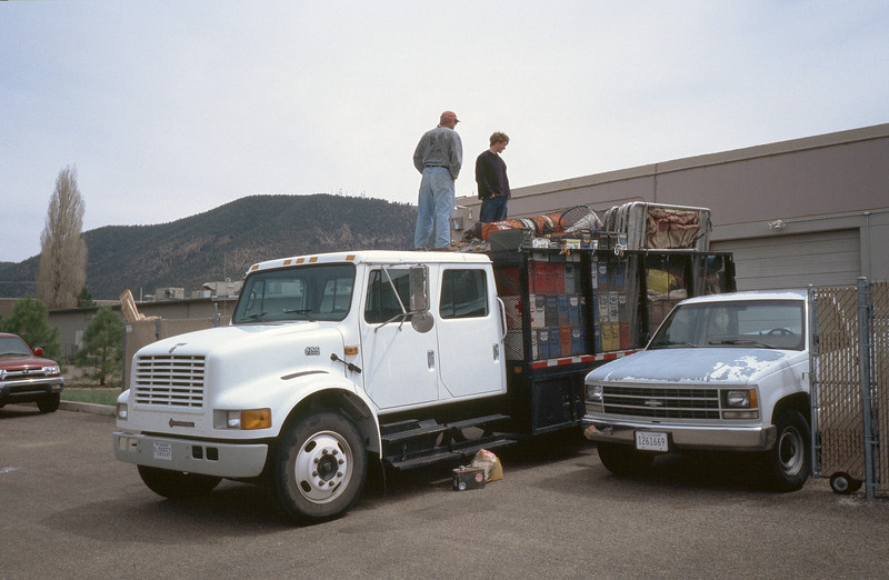 The truck is loaded and ready for the 2 hour drive north to Lee's Ferry near the Glen Canyon Dam.