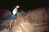 Me searching for scorpions with a UV light which causes their exoskeleton to glow. Helpful in securing a place to sleep.