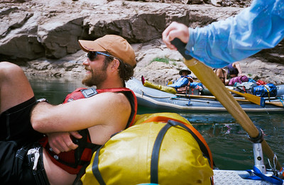 Tail winds are fund and help the rafts through the slow sections of the river.