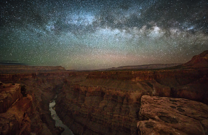 Milky Way Over the Grand Canyon and the Colorado River at Toroweap