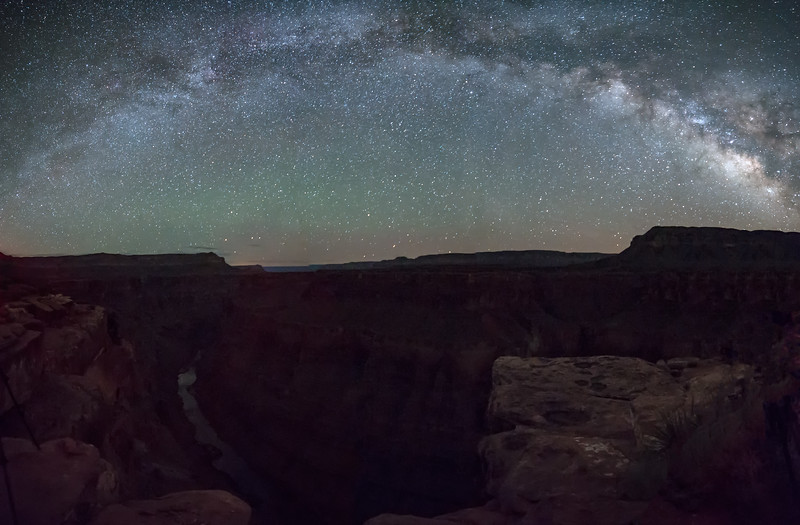 Milky Way Arching Over the Grand Canyon at Toroweap