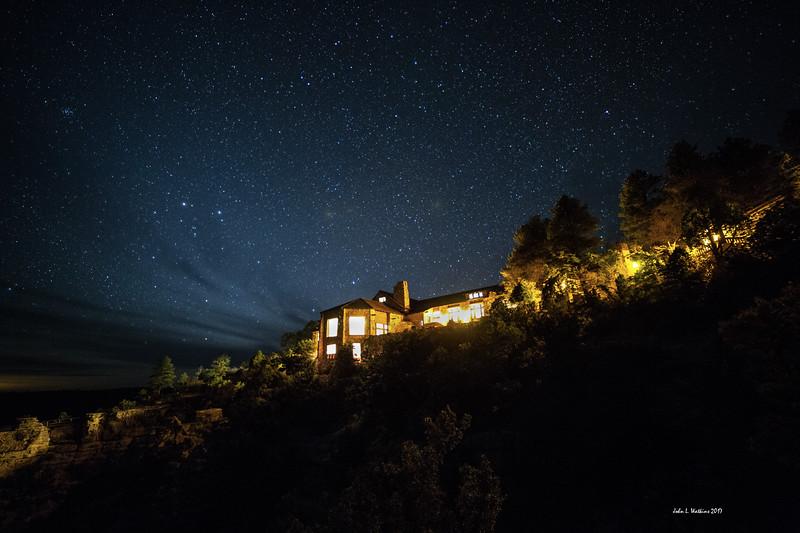 Grand Canyon Lodge at Night