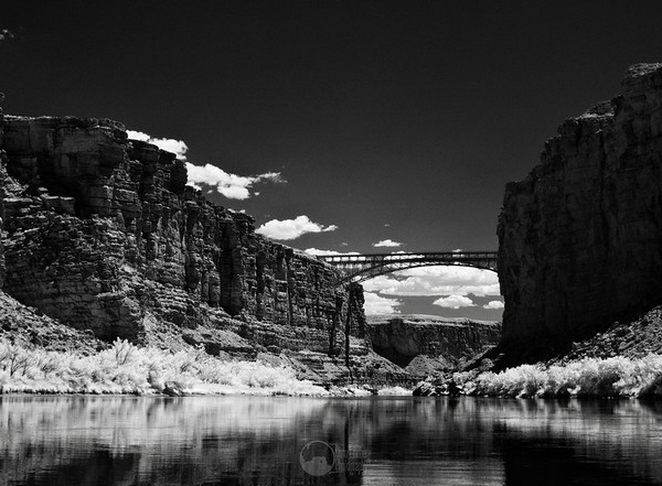 The Navajo Bridges were constructed in 1929 and 1995 as the river crossing for SR 89A.  This is the last vehicle crossing over the Colorado until you reach Hoover Dam.  These bridges stand some 470' above the river.