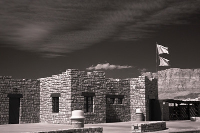 Navajo Bridge Interpretive Center in Infrared