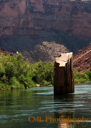 Ten Mile Rock.  In the general vicinity of river mile ten.  Many things in the canyon have been named with just this brand of creativity.  Many other things have interesting names like Zoroaster Temple, Wotan's Throne, etc...