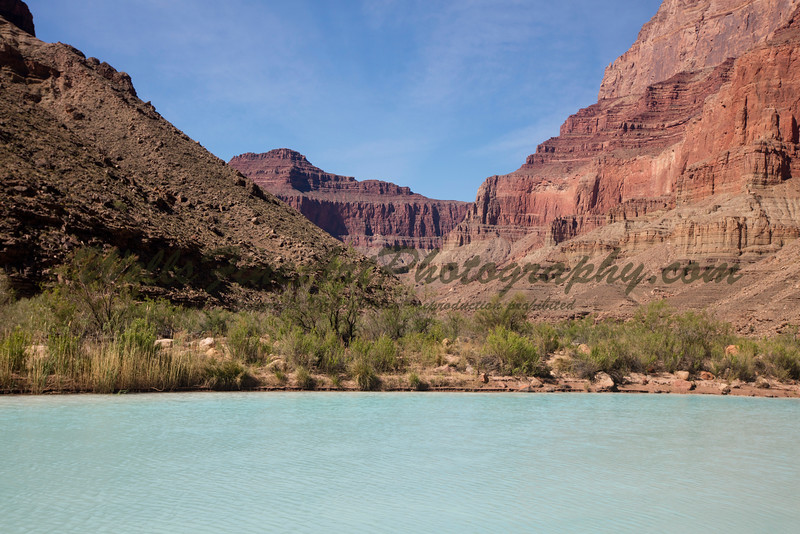 Light blue water of the Little Colorado