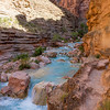 Havasu Creek and our little trail above it.