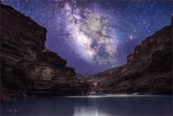 Grand Night, Milky Way Above the Colorado River, Grand Canyon