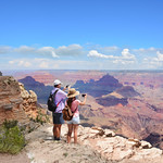 Family hiking trip to Grand Canyon.