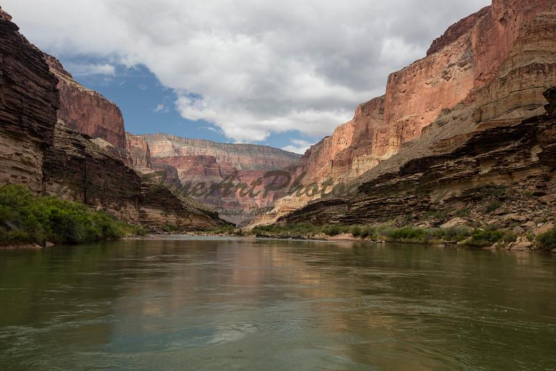 Green water, red cliffs
