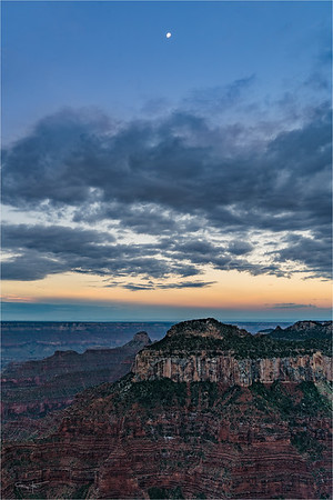 Setting Moon, Bright Angel Point, Grand Canyon