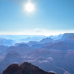Beautiful view of Grand Canyon illuminated by the sun. South Rim, Grand Canyon National Park, Arizona,  USA.