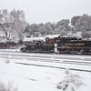 Antique steam train at Grand Canyon Village. Grand Canyon National Park, Arizona.