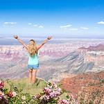 Girl enjoying time in the mountains