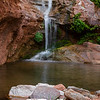 Lower fall at Elve's Chasm with Nasturtium