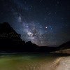 The Milky Way and river meet at Lava Chuar beach