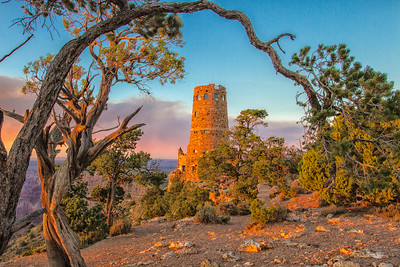 Sunset at the Desert View Watch Tower