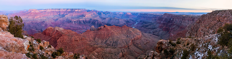 Panoramic of Sunrise at Navajo Point, Grand Canyon