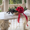 Christmas Decoration on Marble Table, Doge's Suite Sitting Room
