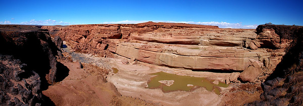 Grand Falls with no flow of water_Panorama1