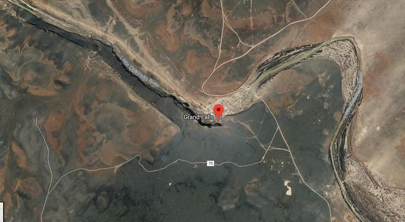 Lava Field diverts river to Grand Falls