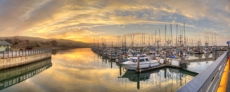 Pillar Point Harbor Sunrise #1, Half Moon Bay, CA