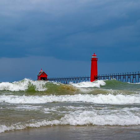 Ominous Sky Over Grand Haven