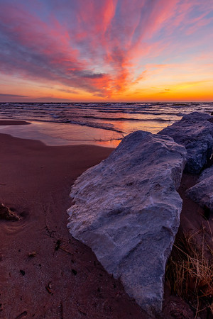 A Dance of Light at Sunset in Grand Haven