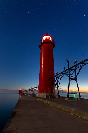 Twilight in Grand Haven