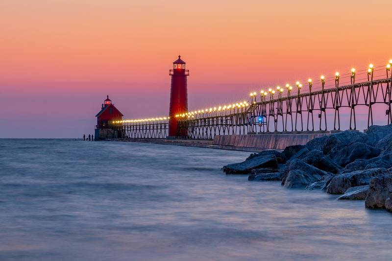 Warm Colors at Sunset - Grand Haven